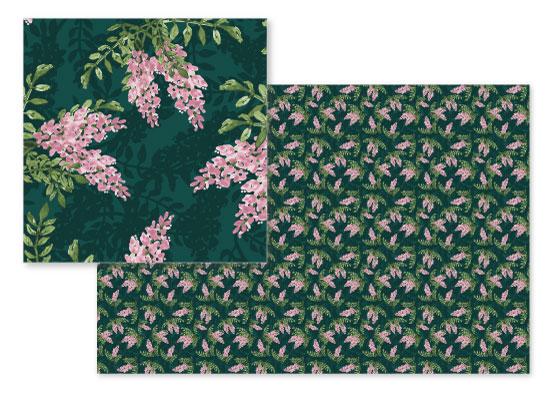 fabric - Wisteria Dream by Valentina Taligarova