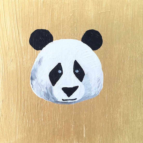 art prints - Tiny Panda by Hannah Lowe Corman