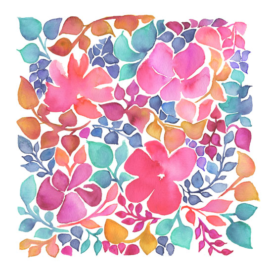 art prints - Frolicking Flowers by Kelly Cline