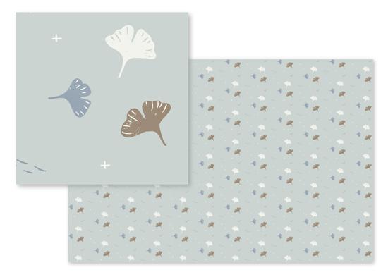 fabric - Ginkgo biloba by Silvia Rossana Garavaglia
