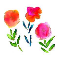 shimmering blooms