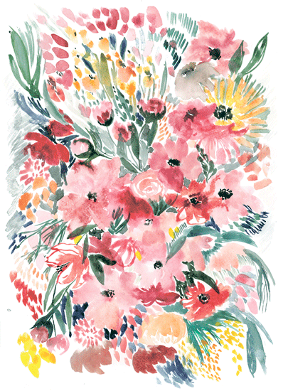 art prints - Flower paradise by Albina Bratcheva