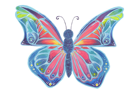 art prints - Brilliant Butterfly by Kelly Cline