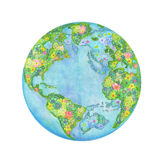 art prints - Global Gardens by Kelly Cline