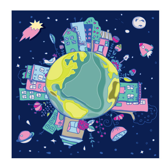 art prints - Our earth in space by Lesia