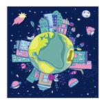 Our earth in space by Lesia
