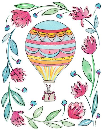 art prints - Hot Air Balloon by Rachel Rogers