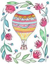 Hot Air Balloon by Rachel Rogers