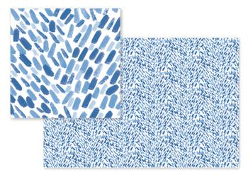Watercolor Indigo Brush