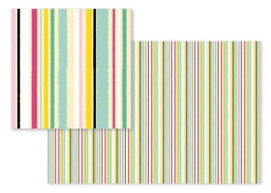 fabric - Summer stripes by Cecilia Granata