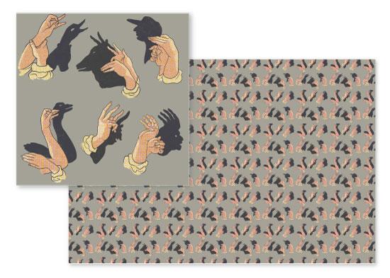 fabric - Shadows Show by Cecilia Granata
