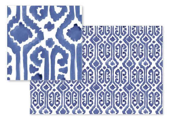 fabric - Painted Ikat by Liz Conley