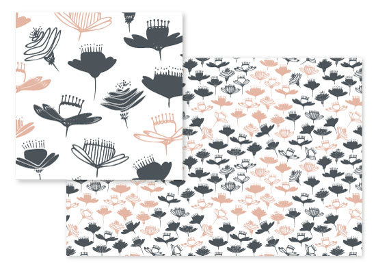 fabric - Whimsical Garden by Bethania Lima