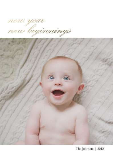 new year's cards - New Beginnings, New Baby by Danielle Romo