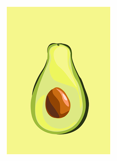 art prints - Simply Avocado by Amber Piacentine