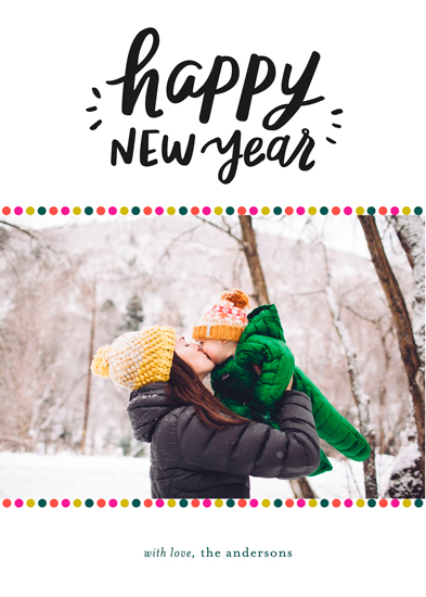 new year's cards - Colorful Dots by Little Print Design
