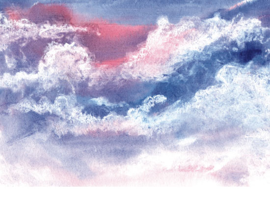 art prints - Cotton Candy Skies by Oriana Zens