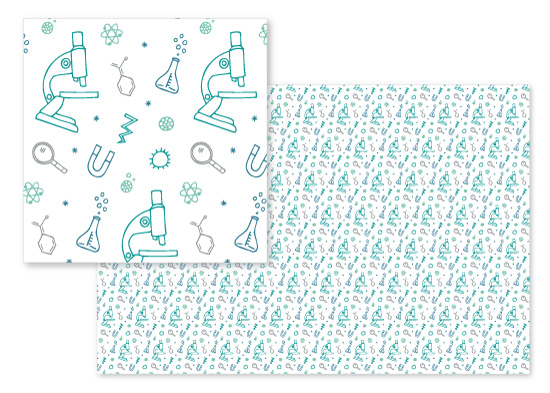 fabric - Science Doodles by Field and Sky