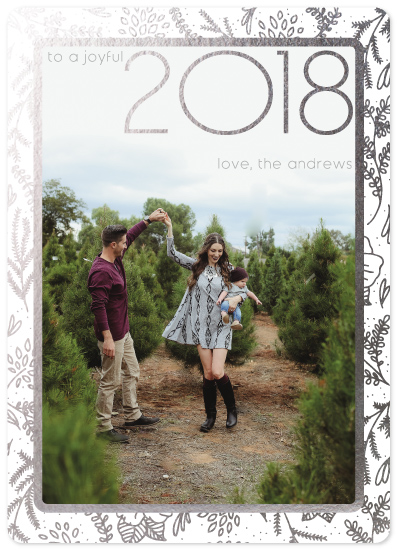 new year's cards - A joyful year by Christy Sawyer
