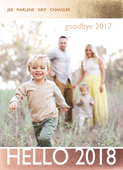 new year's cards - Goodbye  Hello by Amy Estrada