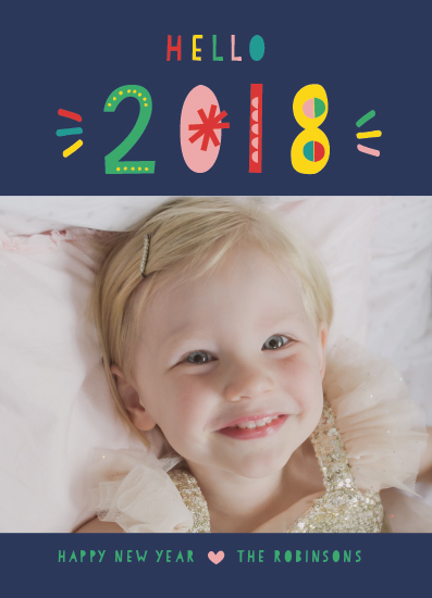 new year's cards - Whimsical New Year by Shirley Lin Schneider