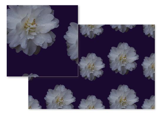 fabric - Dewy Flower by Designs by Aili
