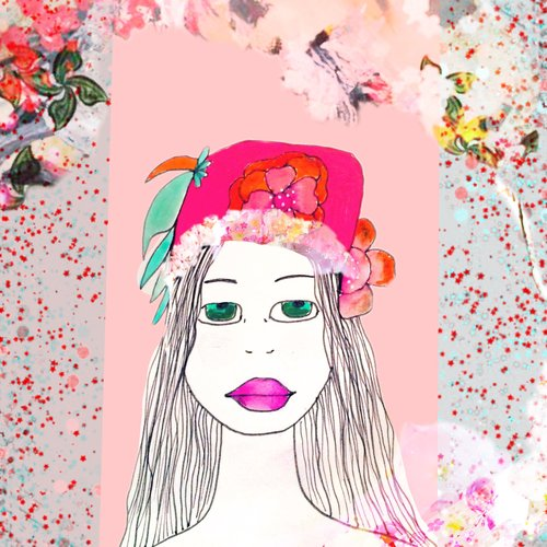 art prints - Flower girl by Pascale cerdan