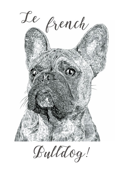art prints - Frenchie by Maria Jose