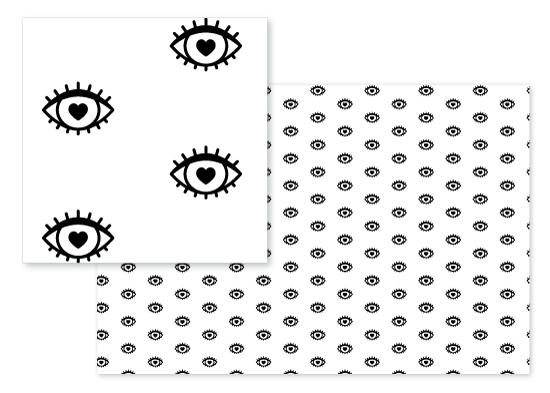 fabric - Heart Eyes by Cat Caudillo