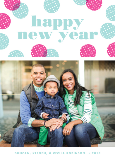 new year's cards - Confetti Dots by Paper and Parcel
