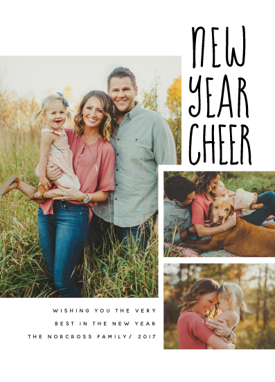 new year's cards - Modern New Year Cheer by Maria Hilas Louie