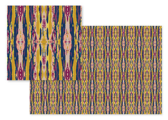 fabric - Ikat Revisited 1 by Bethania Lima