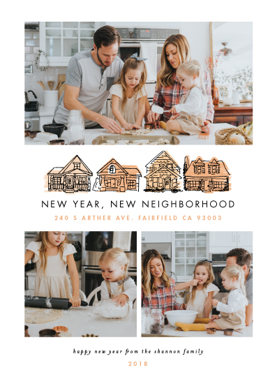 new year's cards - New Year New Neighborhood by Shiny Penny Studio