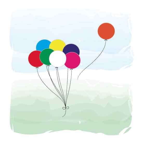 art prints - Colorful Balloons by Lumarie