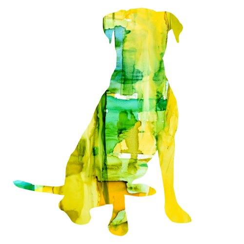 art prints - Fiesta Pup Yellow by Marla Beyer