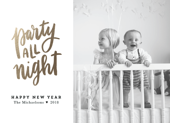 new year's cards - Party All Night by Up Up Creative