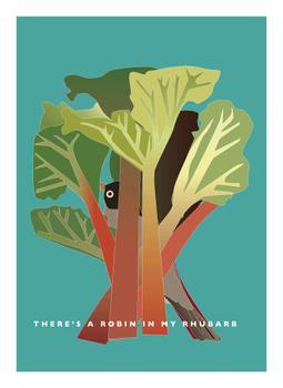 Robin in the Rhubarb