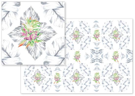 fabric - Pineapple Blossom by Brett Parks
