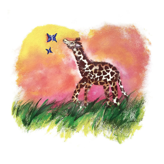 art prints - Giraffe Dreams by Aubrey Troutman