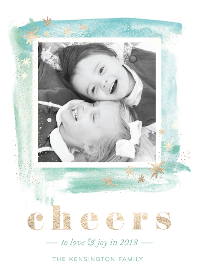 new year's cards - sparkle cheer by shoshin studio