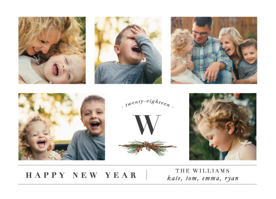 new year's cards - Five Photos by Susan Brown