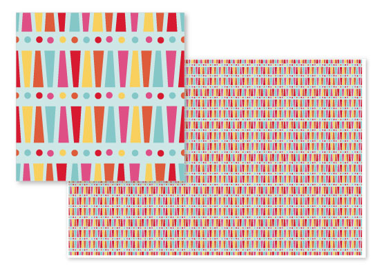 fabric - Cabanas on the Beach by Orange Poppy Designs