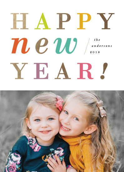 new year's cards - Bright & Colorful Year by Playground Prints