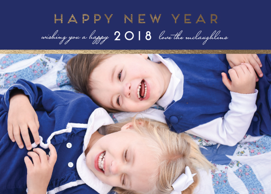 new year's cards - blue new year by leggs and foster