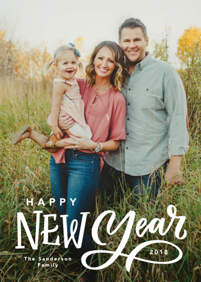 new year's cards - Lettered New Year by Kristen Smith