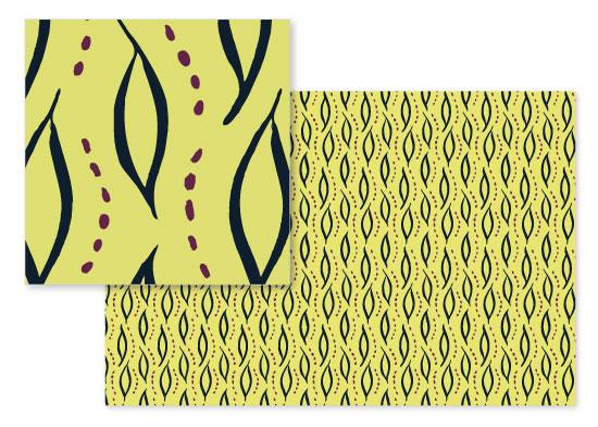 fabric - Trailing Foliage by Maria Koontz