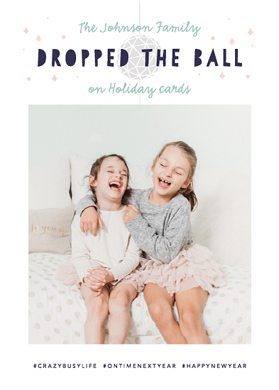 new year's cards - Dropped the Ball by Jackie Crawford
