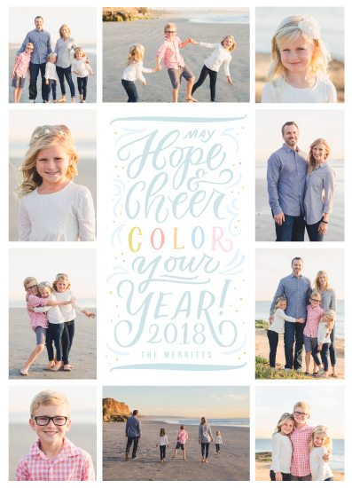 new year's cards - Color Your Year by Julie Murray
