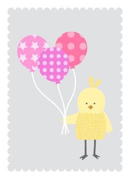 Bird with Balloons
