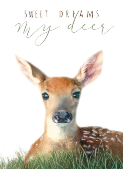 art prints - Sweet Dreams My Deer by Sandy Miranda